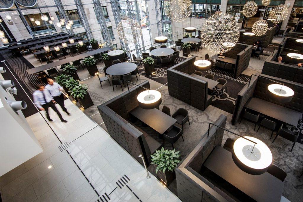 Egen personalrestaurant i 5. etasje i Kaibygg 1