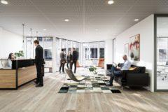 Flotte og lyse lokaler - her forslag til resepsjonsområde