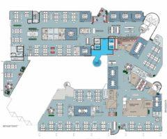 2.644 m2 kontor i 3. etasje - kan deles i to leieforhold