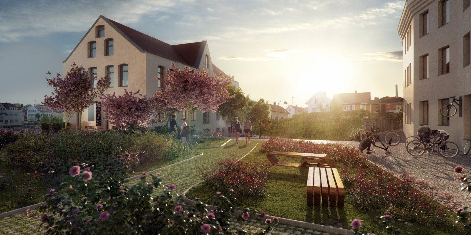 Visjon Svanketorget - et spennende område med yrende liv