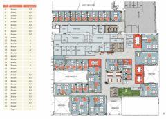 Plantegning/inndeling av kontorer i Business Village