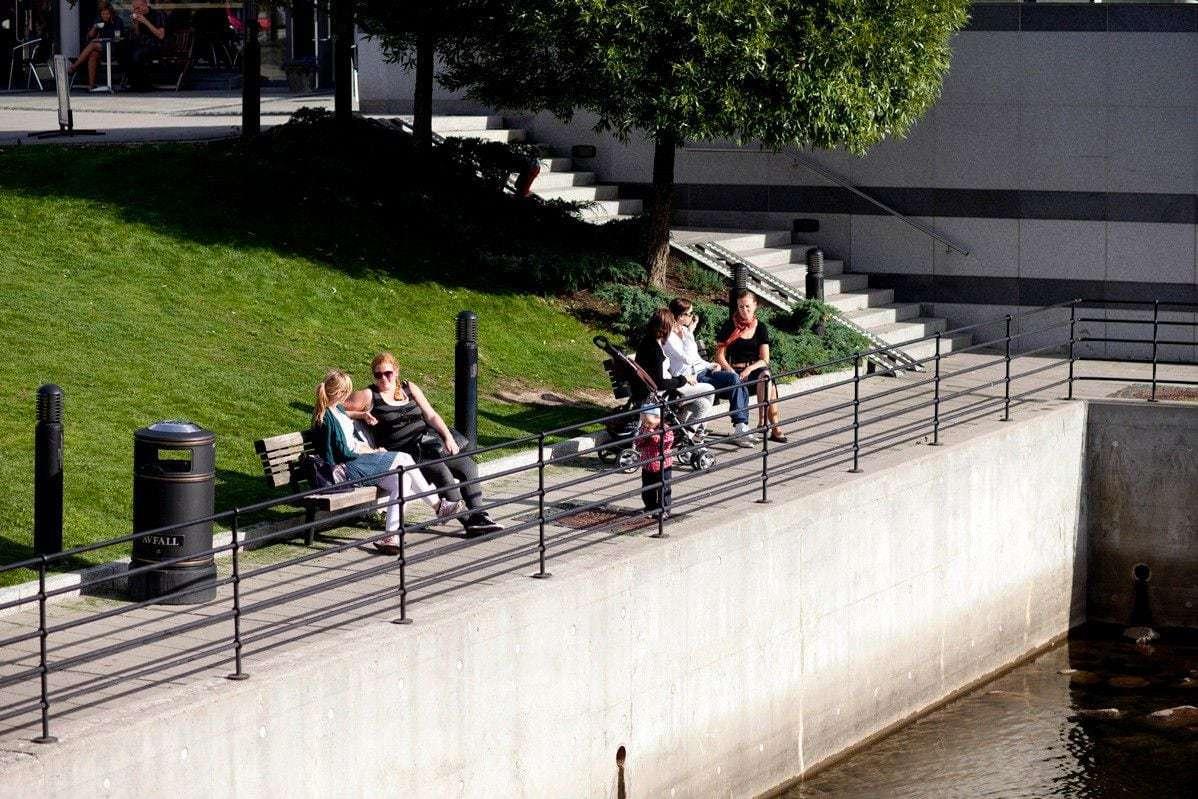 Nydalen: Rekreasjonsområde ved elven